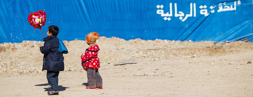 Syyrialaisia pakolaislapsia Pohjois-Irakissa sijaitsevalla Domizin pakolaisleirillä.