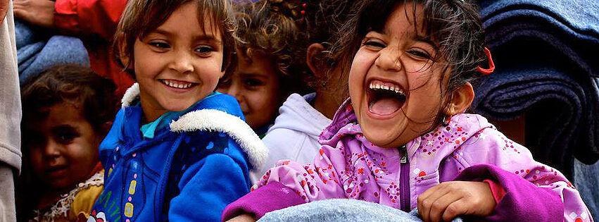 Lasten riemulla ei ollut rajoja, kun hätäapupakkaukset saapuivat perille Pohjois-Irakiin.