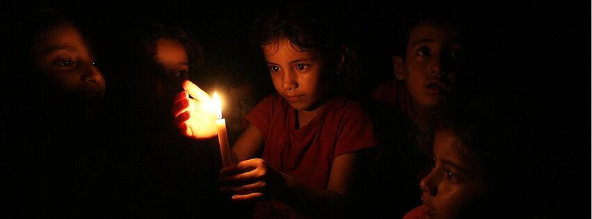 Lasten toivoa pidettiin yllä muun muassa YK:n koulussa Rafahin kaupungissa Gazassa.