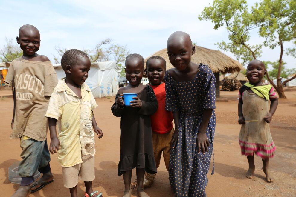 UNICEFin avulla lapset saavat puhdasta vettä Ugandassa. Kuva: Jussi Kivipuro / UNICEF