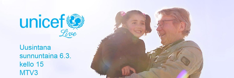 UNICEF Live - uusinta sunnuntaina 6.3. kello 15 MTV3-kanavalla