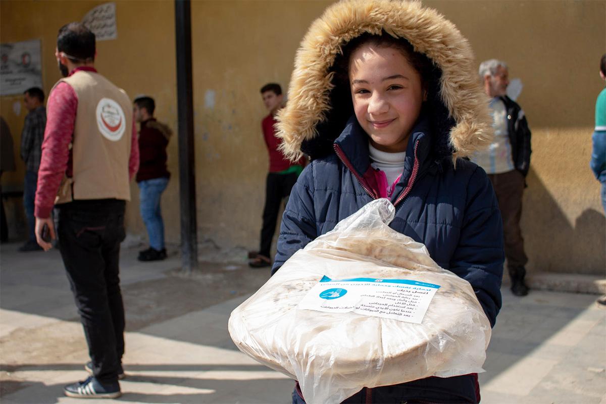Najah, 12, sai pussillisen leipää, jossa on painavaa asiaa koko perheelle