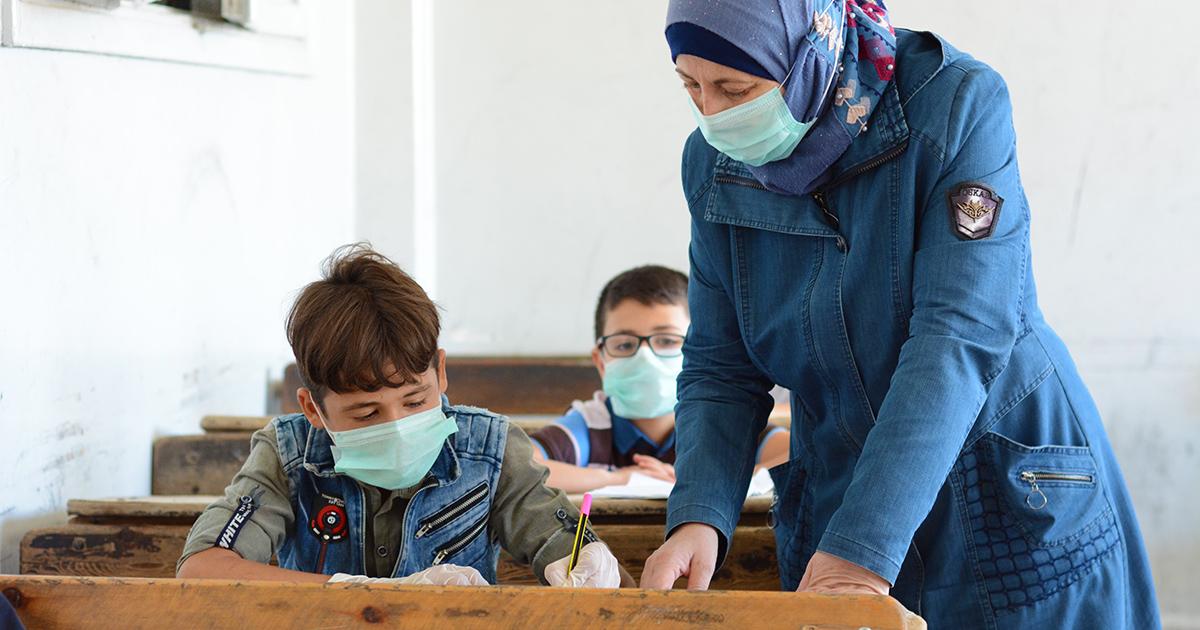 Abdulkader, 9, on elättänyt aiemmin perhettään työskentelemällä rakennustyömaalla.