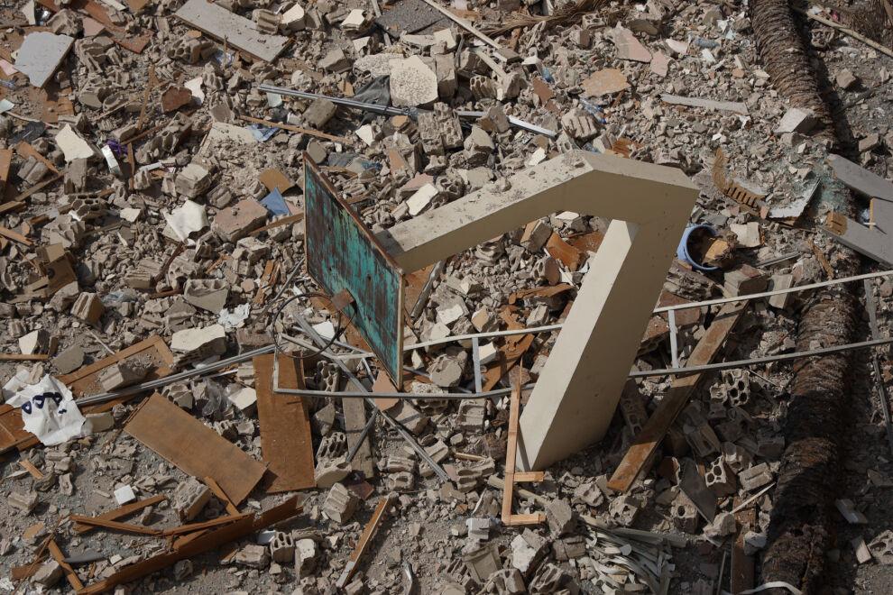 Beirutin Achrafiehin alueen koulu vaurioitui pahoin räjähdyksessä.© UNICEF/UNI368131/Haidar