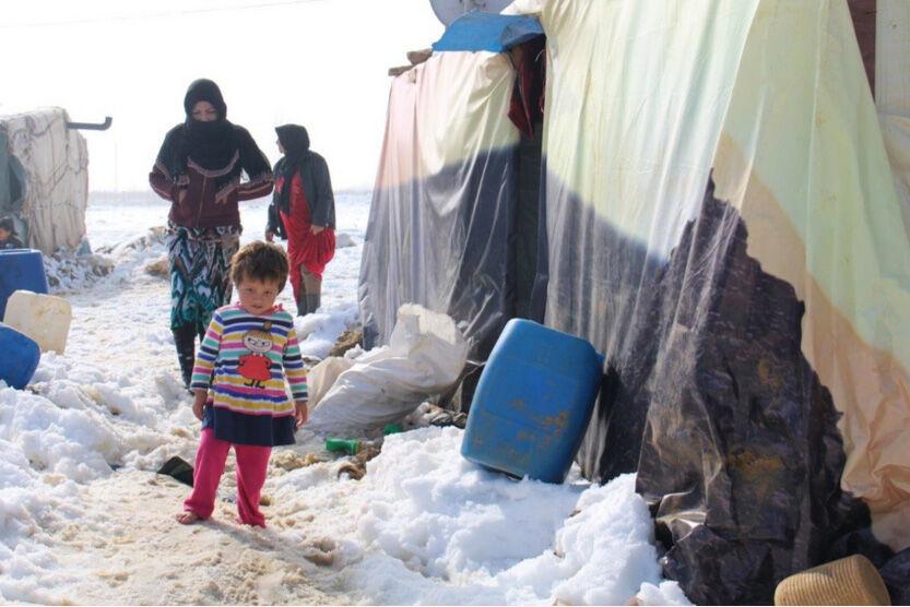 Pakolaislapsi leirillä Bekaanlaaksossa Libanonissa. © UNICEF/Lebanon 2015/Miriam Azar