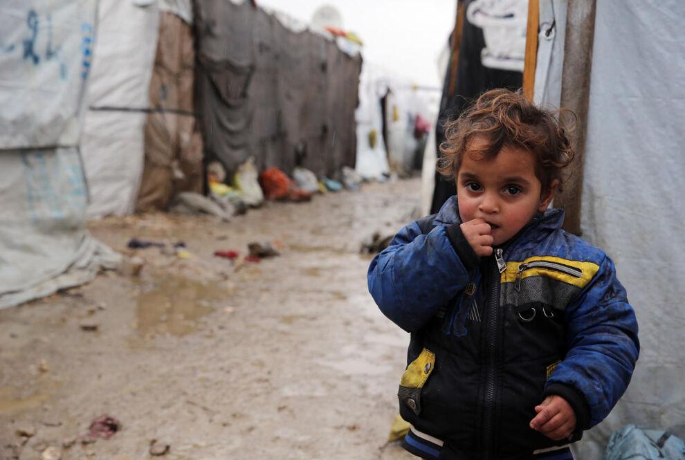Syyrialaislapsi Libanonissa epävirallisella pakolaisleirillä. © UNICEF/UN0127917/Haidar
