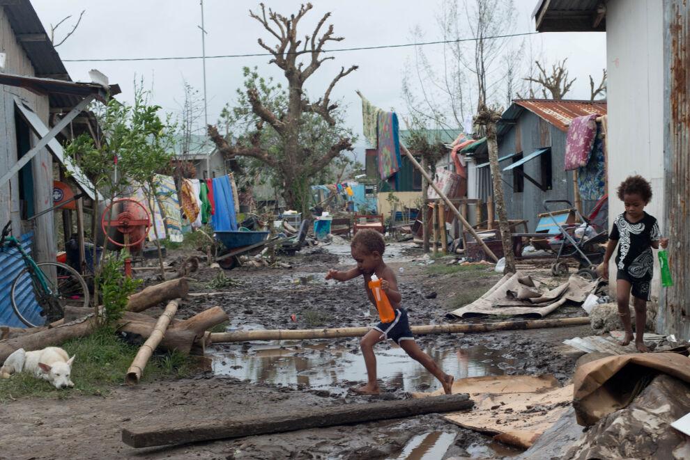Hirmumyrsky Pam aiheutti suurta tuhoa erityisesti Vanuatussa. © UNICEF/NYHQ2015-0435/UNICEF Pacific