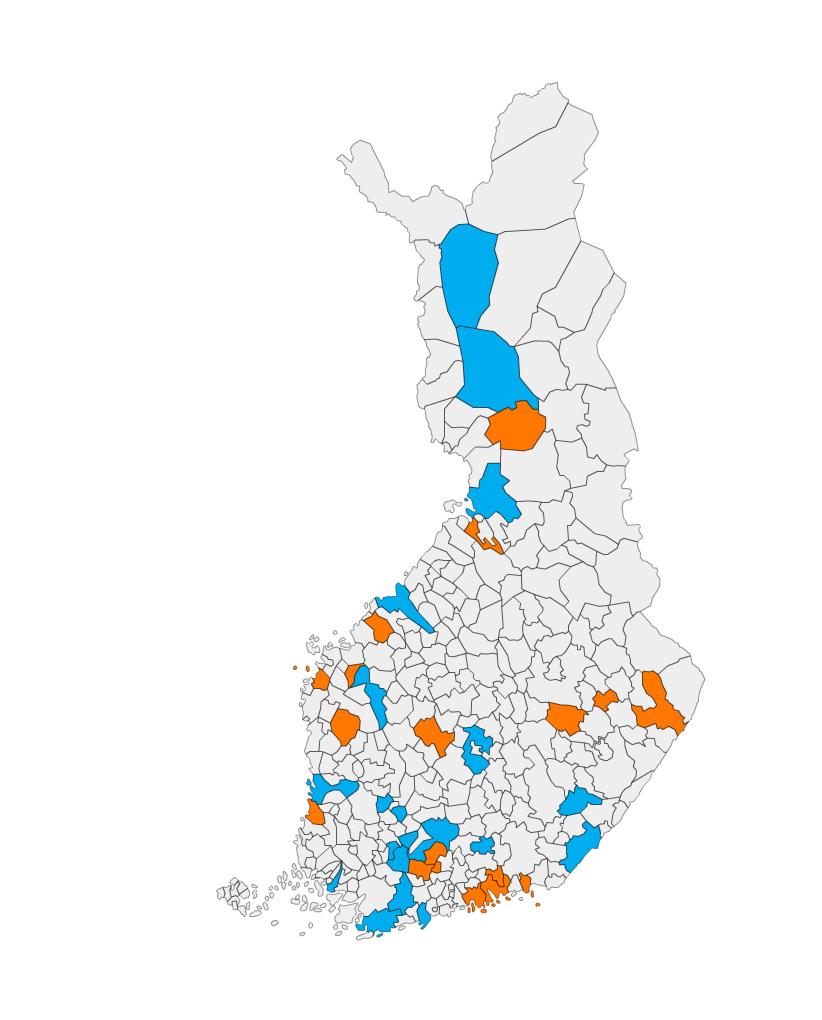 Lapsiystävälliset kunnat Suomen kartalla