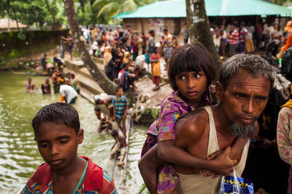 Suurin osa Bangladeshiin paenneista rohingyoista on lapsia. © UNICEF/UN0120414/Brown