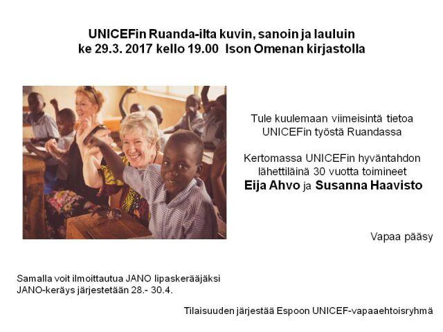 Ruanda-ilta kuvin, sanoin ja lauluin