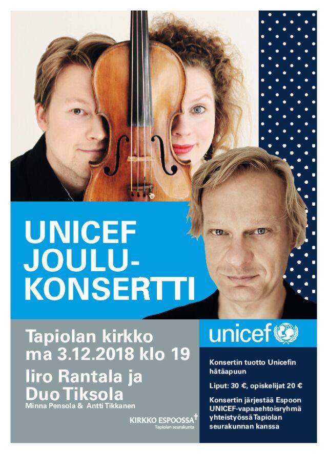 UNICEF Joulukonsertti - Iiro Rantala ja Duo Tiksola
