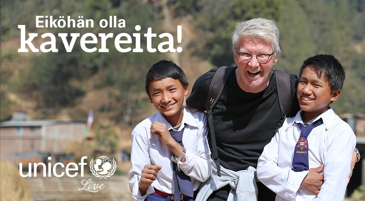 UNICEF Live esitetään Maikkarilla 8.3. klo 20.
